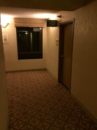 The Plaza Suites Silicon Valley: Who needs a LIGHTED exit sign?