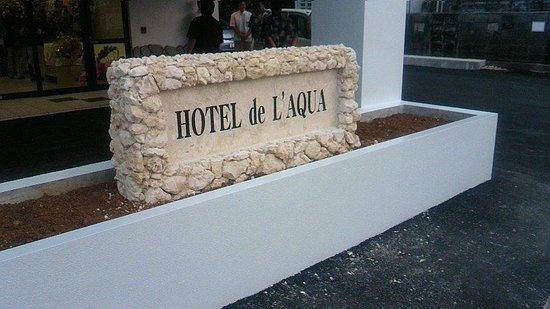 Hotel de L'aqua: エントランス