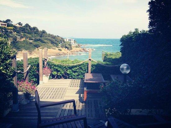 Hotel Cap Riviera: Superbe vue mer depuis la terrasse