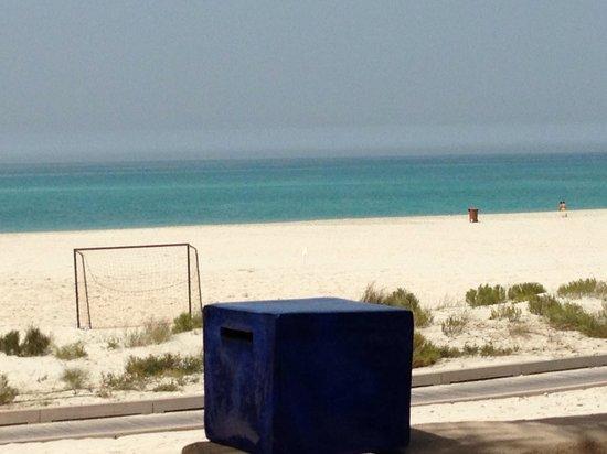 The St. Regis Saadiyat Island Resort: View of beach from adult pool