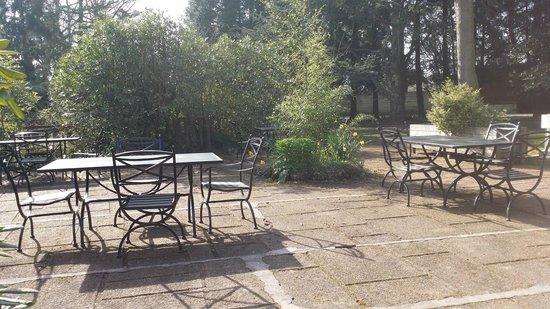 Le Petit Coq aux Champs: Peit coin pour petit dejeuner en terrasse au soleil