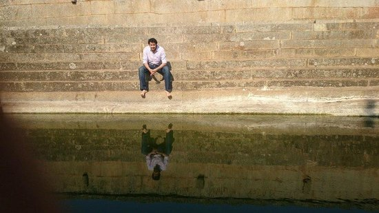 Nandi Hills: At Peace at the small pond inside the Nandi Temple