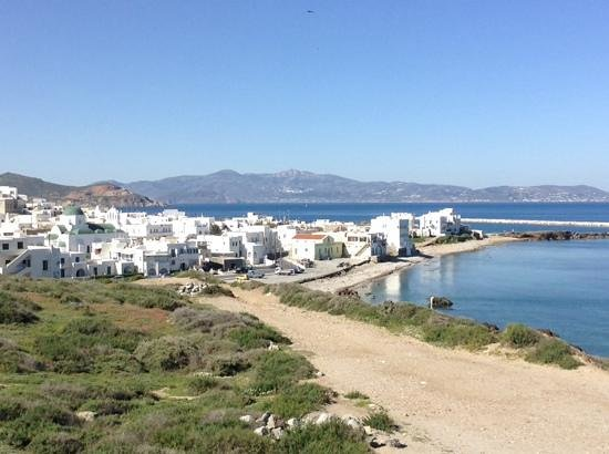 The path to town from Hotel Grotta, a 7-8 minute walk.  The Blue Star Ferry docks in the port be
