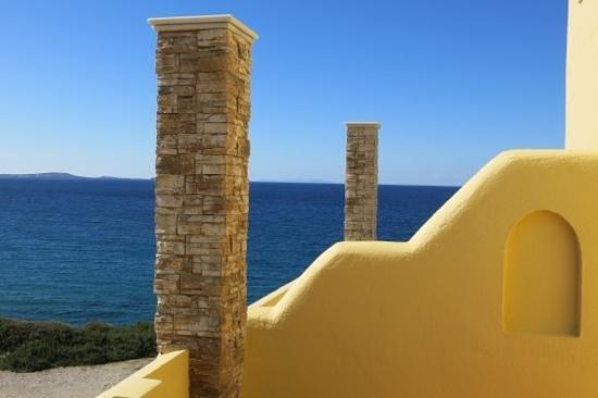 Hotel Grotta: Room 50's balcony, looking north