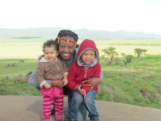 Lewa Wildlife Conservancy: My sister and her kids