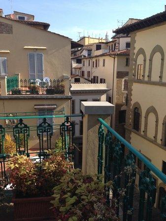 Hotel Berchielli: vista dal terrazino della camera