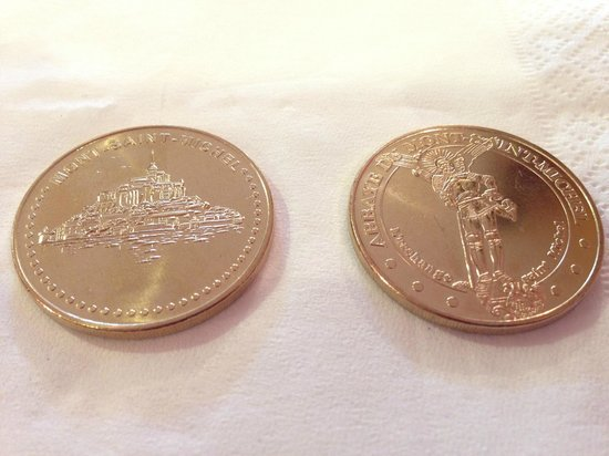 Abbaye du Mont-Saint-Michel : 2ユーロのコインもお勧め