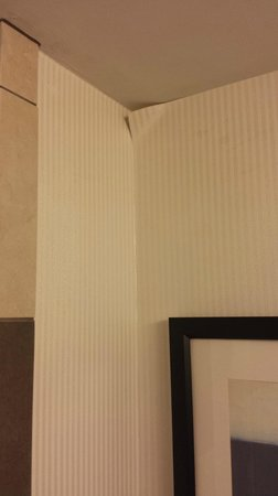 Hilton Baltimore BWI Airport: Peeling wallpaper