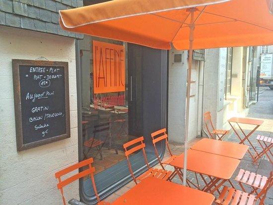 L'Affiné, le restaurant : la terrasse et la façade
