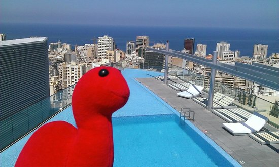 Staybridge Suites Beirut : Ron liked the pool - check out Ronovision on YouTube