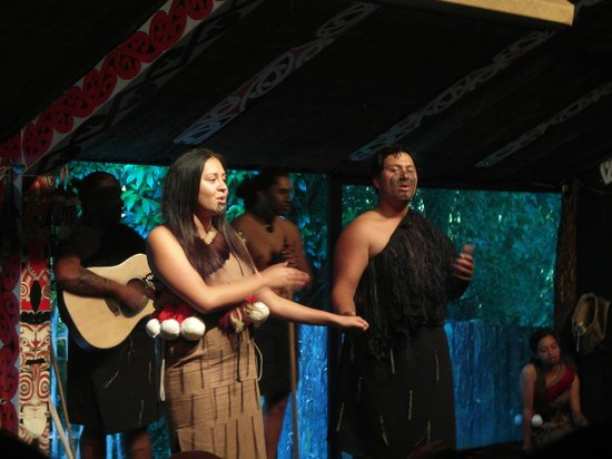 Maori-Dorf Tamaki: I canti