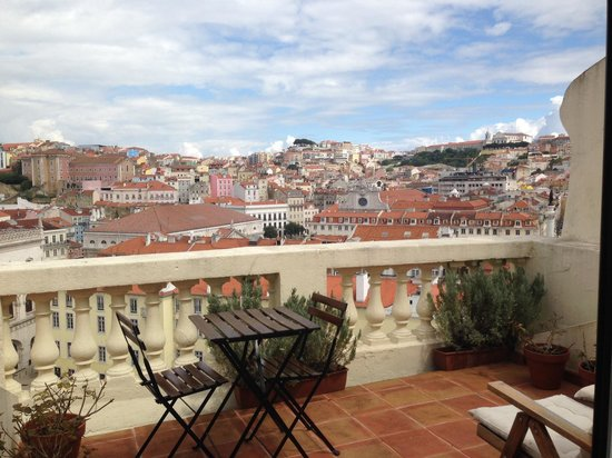 Casa Balthazar: View from Rossio Terrace