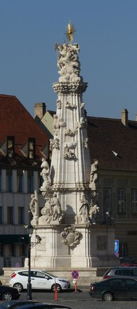 The cherub like figures on Holy Trinity Column