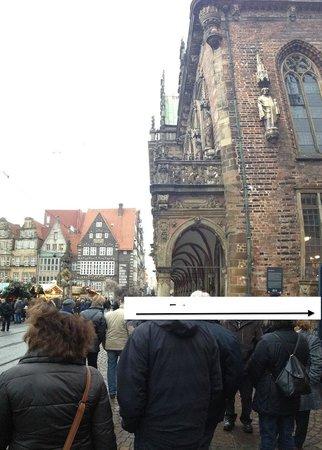 Hôtel de ville de Brême (Rathaus) : The side of the town hall, from where you enter the tour