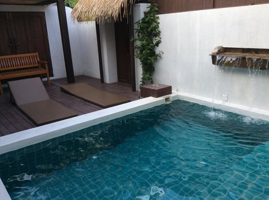 Mimosa Resort & Spa: Your own private spa pool in the villa complete with sun deck chairs