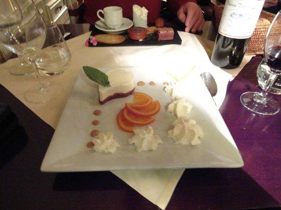 La Belle Epoque : Cointreau pannacotta + caramel orange slices