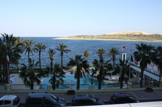 Qawra Palace Hotel: The view from our room