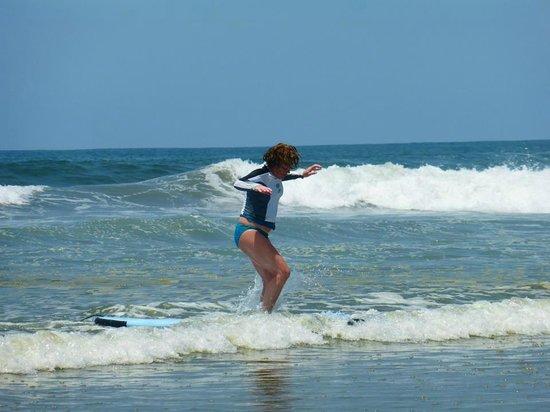 Nosara Tico Surf School : First lesson ever!