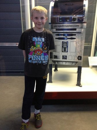 Smithsonian National Air and Space Museum Steven F. Udvar-Hazy Center: My son may have been more excited about this Star Wars R2D2 mailbox than the Space Shuttle!