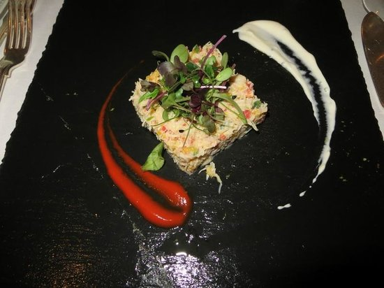 PowderMills Country House Hotel: Crab starter
