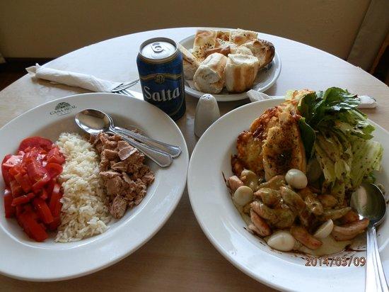 Casa Real Hotel: excelente la comida