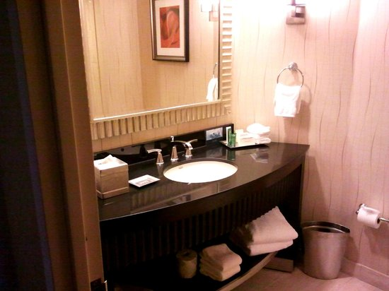 Hilton Rosemont / Chicago O'Hare: bathroom, clean and well supplied
