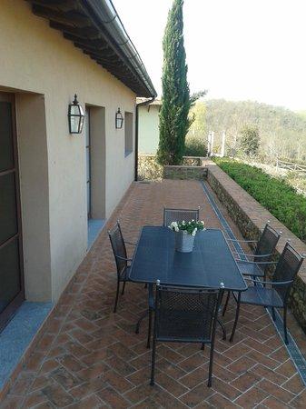 Villa i Laghi: il terrazzo