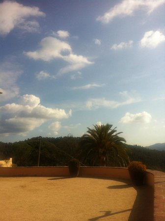 Sant Pere del Bosc Hotel & Spa : While enjoyng the coffee outside (and the view from my window as well)