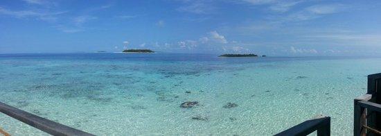 Reethi Beach Resort: Panoramic view from WV 204