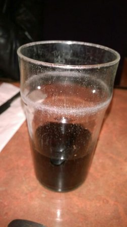 Jimmy Chung's: This is the grubby looking glass they give you