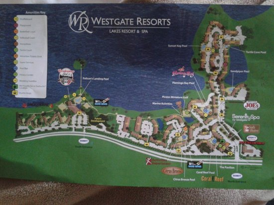 Mapa Do Hotel Picture Of Westgate Lakes Resort Amp Spa