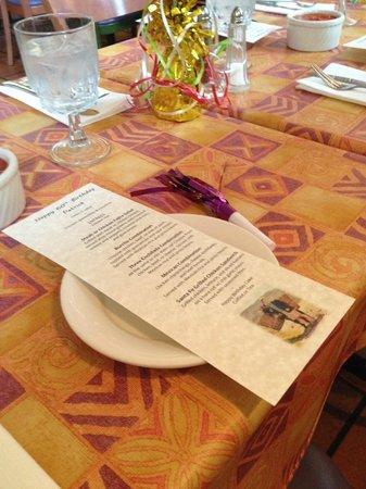 Santa Fe Restaurant: Menus