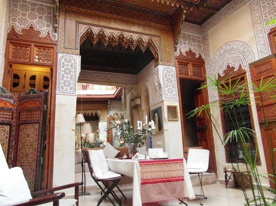 Riad Dar Zaya: a. Our dining table.