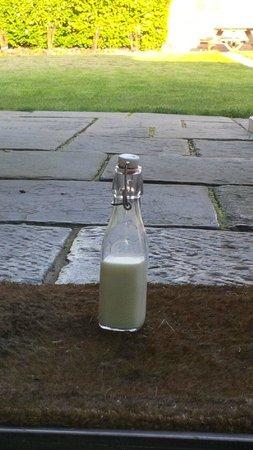 The White Horse: Morning milk left outside door!
