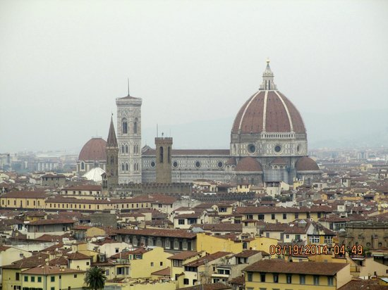 Fun in Tuscany: Panoramic views of Florence from Piazzale Michaelangelo
