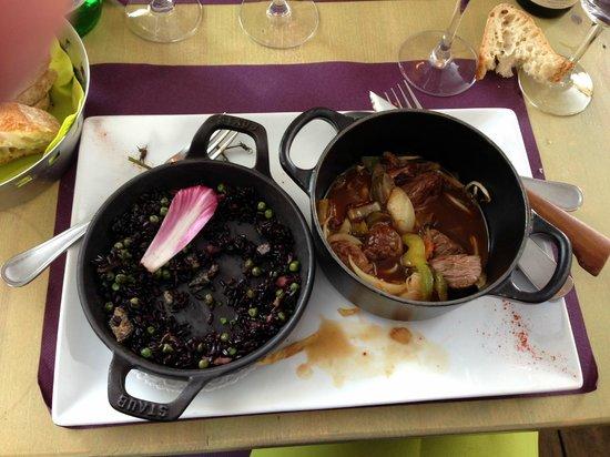 Le Signal : Onglet de veau laqué et son riz noir...