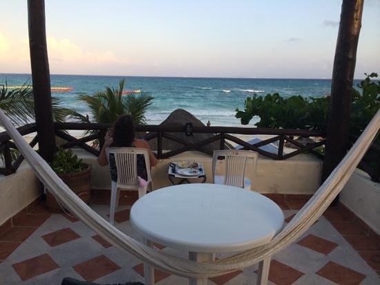 Morning coffee at Hotel Mimi Del Mar