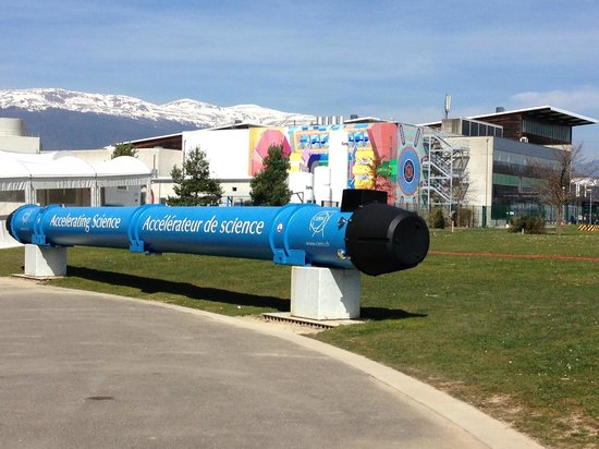 CERN Univers de particules: The ATLAS detector, adjacent to the visitor center