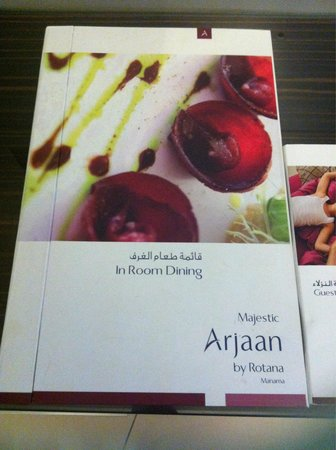 Majestic Arjaan By Rotana : Room dining