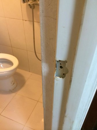 Hoan Kiem Lake Hotel: dirty toilet and damaged door