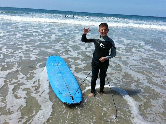 Leucadia Surf School: 9 year old Surfing