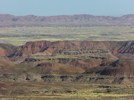 Painted Desert : the rock colours are fantastic