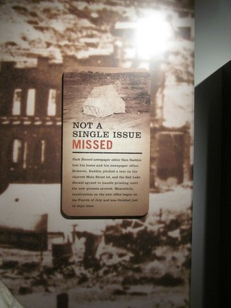 Park City Museum: some family history here too