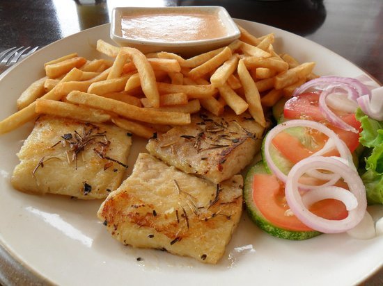 Bougainvillea Cafe: filetes de peixe