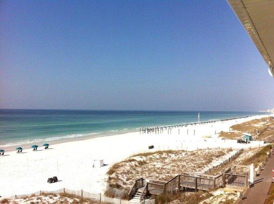 Crystal Sands Condominiums: Looking right from our balcony!!!