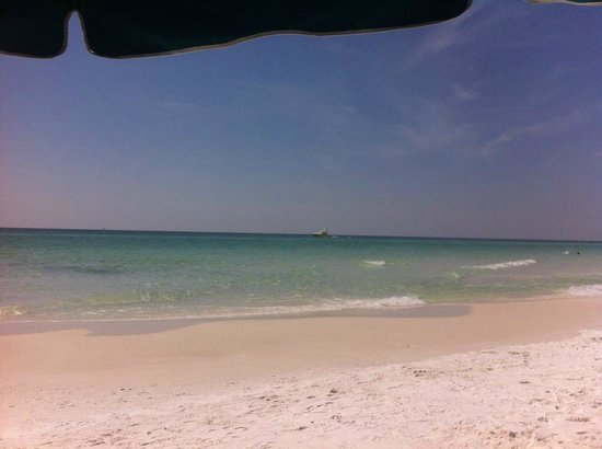 Crystal Sands Condominiums: View from under our umbrella!!!