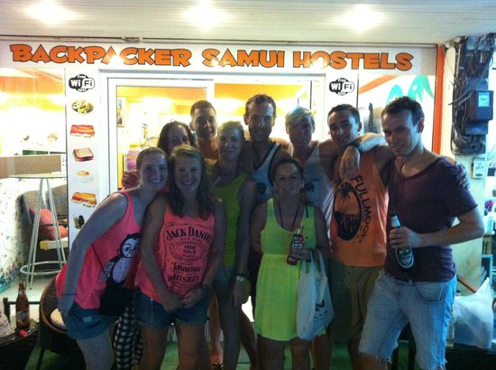 Backpacker Samui Hostel: Before heading to the half moon party
