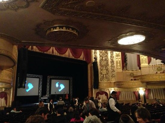 Warner Theatre: view from our seats.  Notice where 2nd level starts