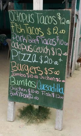 Reina's Pasties Pizza & Fast Food: Reinas lunch menu