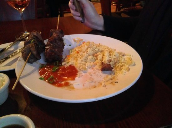 North Shore Grill : Bourbon Marinated Beef Skewers